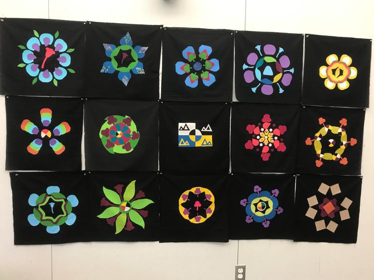 Student quilt blocks
