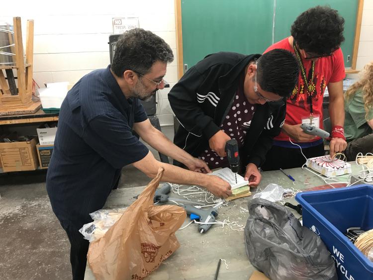 Ron assisting Arcs students