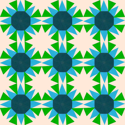 Screenshot of Functions 5 little star quilt