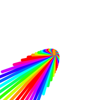 Screenshot of rainbow parabola